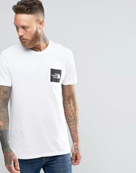 The North Face T Shirt With Pocket Box Logo In White White
