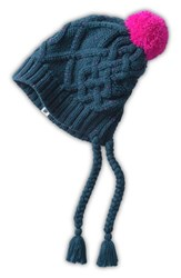 The North Face Women's 'G Flecka' Earflap Beanie Blue Kodiak Blue Luminous Pink