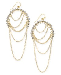 Inc International Concepts Gold Tone Pave Chain Drop Earrings Only At Macy's