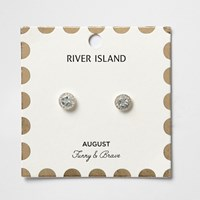 River Island Womens Green August Birthstone Stud Earrings