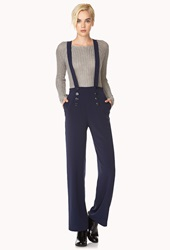 Forever 21 Overall Sailor Pants Navy