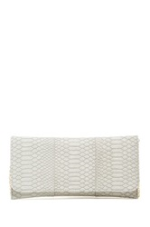 Urban Expressions Kailey Matte Snakeskin Vegan Leather Clutch Gray