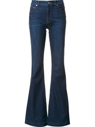 Derek Lam 10 Crosby Dark Wash Flared Jeans Blue