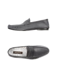 Guardiani Drive Moccasins Steel Grey
