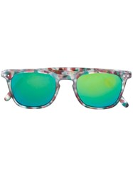 See Concept Tortoise Square Shaped Sunglasses Green