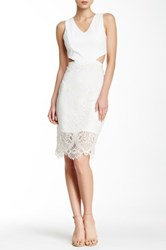 Lovers Friends Spellbound Cutout Midi Dress White