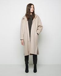 Isabel Marant Hacene Hooded Coat Beige