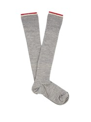 Isabel Marant Zina Silk Blend Socks Light Grey