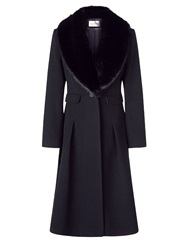 Kaliko Fur Collar Coat Black
