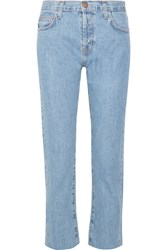 Current Elliott The Vintage Straight High Rise Jeans Mid Denim