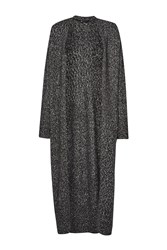 French Connection Flecked Flora Long Cardigan Black