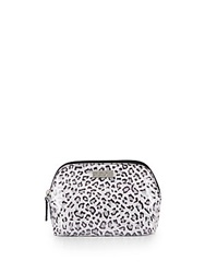 Saks Fifth Avenue Leopard Print Wedge Cosmetics Bag
