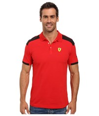 Puma Sf Polo Rosso Corsa Men's Short Sleeve Knit Red