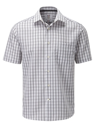 Skopes Check Classic Fit Short Sleeve Classic Collar Shi White
