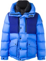 Moncler Colour Block Padded Jacket Blue