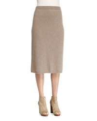 Eileen Fisher Cashmere Calf Length Skirt Brown