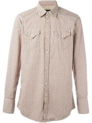 Dsquared2 Floral Pattern Shirt Nude And Neutrals