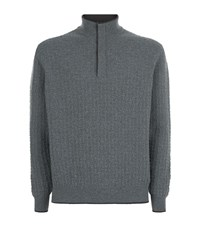 Stefano Ricci Textured Knit Turtleneck Sweater Male Dark Grey