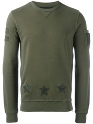 Hydrogen Round Neck Sweatshirt Green