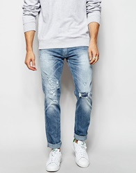 Replay Jeans Anbass Slim Stretch Fit Sunfaded Light Wash Sunfadedlightwash