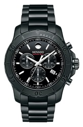 Movado 'Series 800' Chronograph Bracelet Watch 42Mm Black