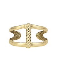 The Sak Woven Cuff Bracelet Gold