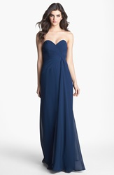 Faviana Sweetheart Chiffon Gown Online Only Navy