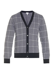 Brioni Hound's Tooth Knit Cardigan