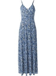 Michael Michael Kors Floral Print Maxi Dress Blue