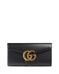 Gucci Gg Marmont Continental Wallet Black Nero