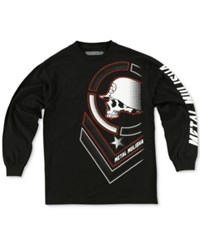 Metal Mulisha Men's Graphic Print Long Sleeve T Shirt Black