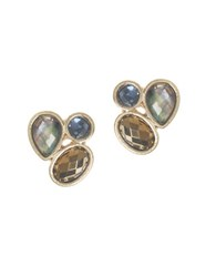 Lonna And Lilly Epoxy Stud Earrings Gold