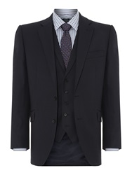 New And Lingwood Richmond Birdseye Suit Jacket Navy