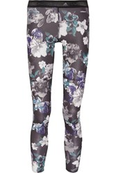 Adidas By Stella Mccartney Floral Print Stretch Jersey Leggings Multi