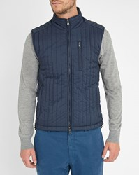 Hackett Navy Thermo Regulator Quilted Sleeveless Down Jacket