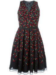 Holly Fulton Sequin Flower Embellished Dress