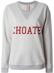People Choate Print Sweatshirt Grey