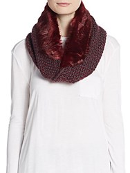 Saks Fifth Avenue Faux Fur And Marled Knit Infinity Scarf Olden Velvet