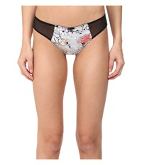 Emporio Armani Sexy Satin And Lace Mini Brief Printed Flower