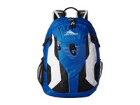 High Sierra Aggro Backpack Vivid Blue Black White Backpack Bags