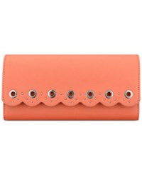 Nine West Scallop Continental Wallet Coral