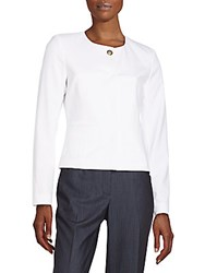 Calvin Klein Cropped Knit Jacket White