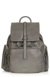Topshop Faux Leather Backpack Grey