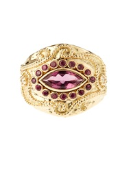 Aurelie Bidermann Fine Jewellery Cashmere Rubellite And Ruby Yellow Gold Ring