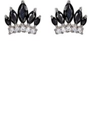 Fallon Women's Monarch Crown Studs Silver