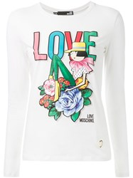 Love Moschino Long Sleeve T Shirt White