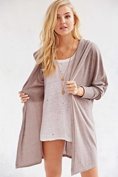 Bdg Slouchy Hooded Cardigan Ivory