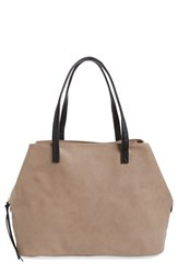 Sole Society Faux Leather Tote Beige Taupe