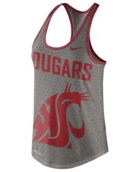 Nike Women's Washington State Cougars Dri Blend Gear Up Tank Heather Charcoal