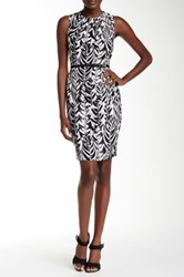 Nine West Printed Belted Dress Multi